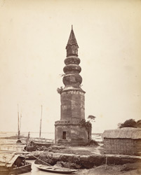 Hindoo Temple at Dacca on bank of river